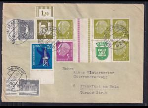Bund, Fern-Brief mit Mi.F. Mi.-Nr. W10+W13 ua.