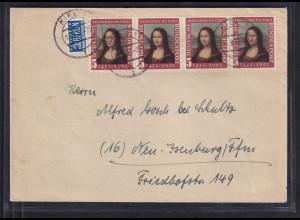 Bund, Fern-Brief mit ME.F. Mi.-Nr.148