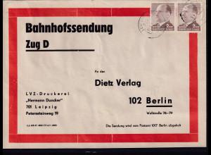 DDR, Me.F. Mi.-Nr. 1088 auf Bahnhofssendung.