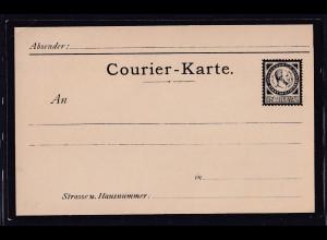 Privatpost, Courier-Karte, Magdeburg, 2,5 Pfg. ungebraucht