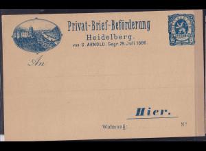 Privatpost, Heidelberg von G. Arnold. 1886, ungebraucht