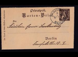 Privatpost, Berliner Stadtpost Berlin 1896, 3 Pfg. braun, gestempelt