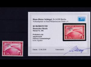 DR, Mi.-Nr. 496, ungebraucht,KB, SchlegelBPP