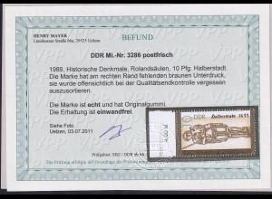 DDR. Mi.-Nr. 3286 F II, postfrisch, Befund. Mayer