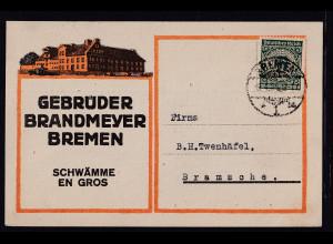 DR. Reklame-Karte, Schwämme, Gebrüder Brandmeyer, Bremen