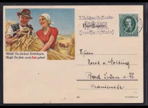 "DR. Reklame-Karte, Düngungsmittel ""Kali"" Frankfurt 1936"