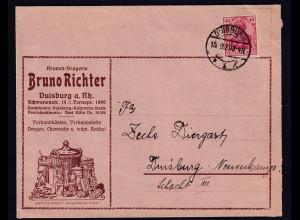 DR. Reklame-Karte, Kronen-Drogerie, Bruno Richter, Duisburg