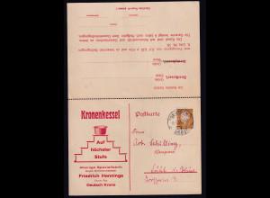 DR. Reklame-Klapp-Karte, Kronnenkessel, Deutsch Krone