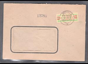 DDR.ZKD-Brief, EF. Mi.-Nr. 31 BII