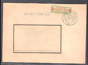 DDR.ZKD-Brief, EF. Mi.-Nr. 31 C II