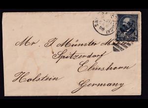 USA-Brief, über New York - Elmshorn Holstein Germany