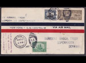 USA-Brief, über New York - Copenhagen Denmark