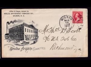 USA-Brief, von Wilson - Richmond 1901