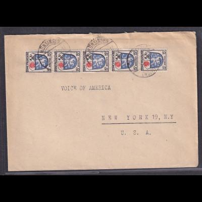 Fr.-Zone MeF. Mi.-Nr. 15 als Ausland-Brief.