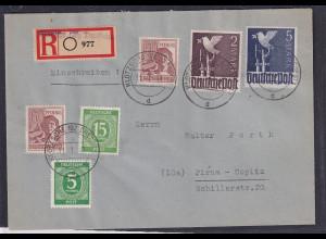 Alliierte Besetzung, R-Fern-Brief mit Mi.F. Mi.-Nr. 962 c, FA, Hohmann