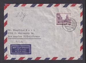 Berlin, Luftpost- Fernbrief mit EF Mi.-Nr. 58 nach USA.