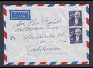 Berlin, Luftpost- Ausland-Brief mit MeF . Mi.-Nr. 124 nach USA.