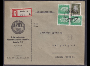 DR., Reklame-Brief, I.P.H.V Berlin