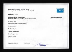 Bund , Eilboten -Fernbrief, Me.F. Mi.-Nr. 260 x, Befund. SchlegelBPP.