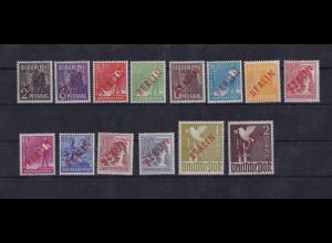 Berlin 1949, Rot Aufdruck Berlin, Mi.-Nr. 21-34, postfrisch, FA Schlegel
