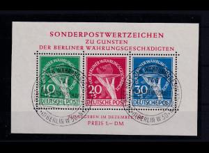 Berlin 1949, Blockausgabe, Mi.Block -Nr. 1 III, gestempelt, FA Schlegel