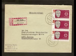 DDR. R-Orts-Brief, mit Mef. Mi.-Nr. 1383