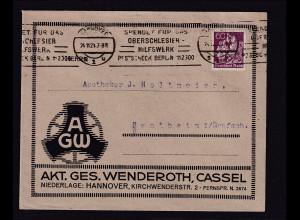 DR-Reklame-Brief, Akt.Ges.Wenderoth, Cassel