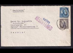 USA., R-Brief, von New York - Berlin 1935