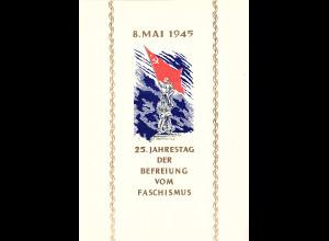 DDR - Gedenkblatt, 25. Jahrestag der Befreiung vom Fashismus