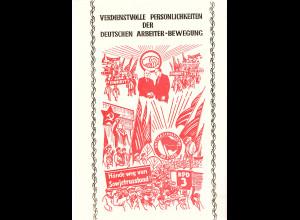 DDR - Gedenkblatt, Verdienstvolle Persönlichkeiten der .................