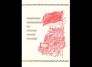 DDR - Gedenkblatt, Verdienstvolle Pesönlichkeiten der .......................