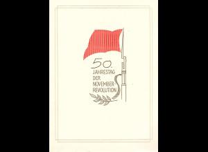 DDR - Gedenkblatt, 50 Jahrestag der Nov.-Revolution