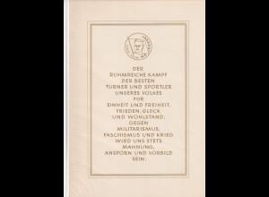 DDR -Gedenktblatt, Sportler im Kampf gegen Faschismus und Krieg