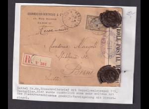 Frankreich, Zensur-R-Brief in der Schweiz