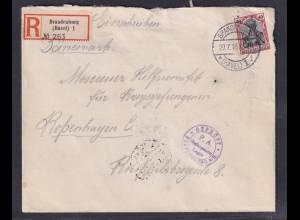 DR, Zensur-R-Brief , KGF-Sendung nach Kopenhagen