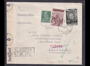 Bulgarien, Zensur-R-Brief nach Berlin