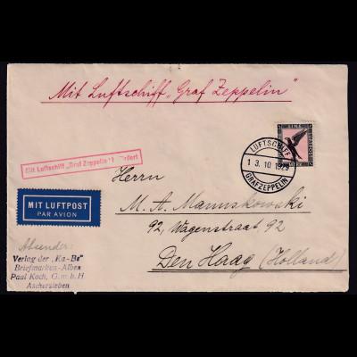 Zeppelin-Brief mit EF. Mi.-Nr. 382