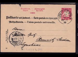 Bayern Ganzsache Mi.-Nr. P 24 IIZ ,gestempelt.