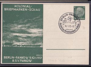 DR., Privatganzsache, Kolonial-Briefmarken-Schau PP 127- C25, gestempelt.
