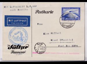 Zeppelin-Brief 1 Amerikafahrt 1929 LZ 127 mit Mi.-Nr. 423