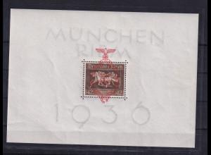 DR, München Riem 1936, Mi.-Nr. Block 10, postfrisch , sign SchlegelBPP.