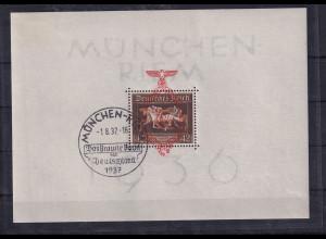 DR, München Riem 1936, Mi.-Nr. Block 10, gestempelt, sign. SchlegelBPP.