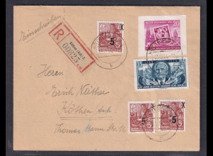 DDR. R-Brief mit Mi.F 445 B u.a.