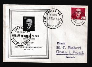 DDR. EF Mi.-Nr. 807 auf Wilhem Pieck FDC Mi.-Nr. Block 16