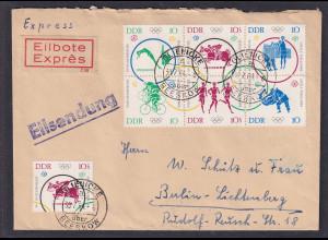 DDR. R-Eilbotebrief mit Mi.F 1039-1044