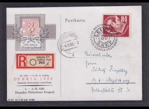 DDR. R-Poskarte mit EF. Mi.-Nr. 260