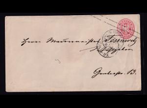 AD. Preußen-Ganzsache als Orts-Brief innerhalb Berlin gelaufen.