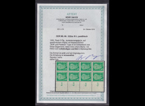 DDR.,1952, Mi.-Nr. 322 za XI L, postfrisch , FA. Mayer