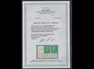 DDR.,1952 Pieck 5 Pfg, Mi.-Nr. 322 za XI DV1 L, postfrisch , FA. Mayer