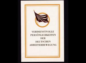DDR - Gedenkblatt, Verdienstvolle Persönlichkeiten der deutschen...... B1-1983